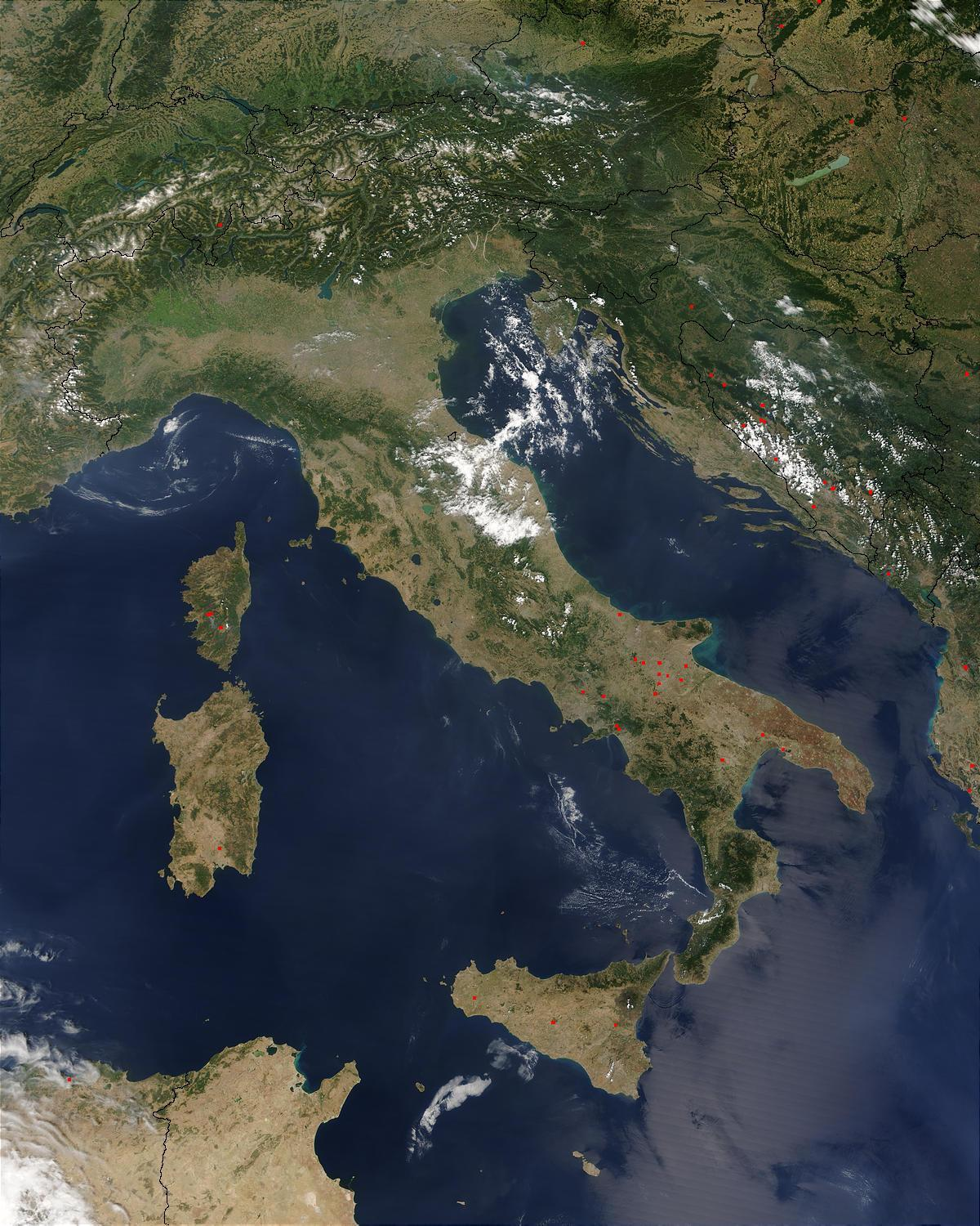 satellite map of italy Italy Satellite Map Map Of Italy Satellite Southern Europe