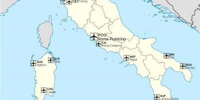 International airports in Italy map