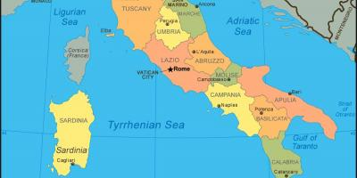Show me a map of Italy