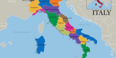 Map of Italy and regions