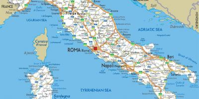 Road map of Italy detailed